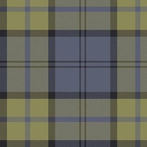 "custom Dunbar tartan - 6"" slate and muted yellow"
