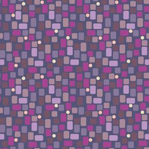 dark violet irregular rectangles