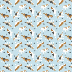 Tiny Beagles - blue