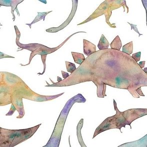 Watercolour Dinosaurs