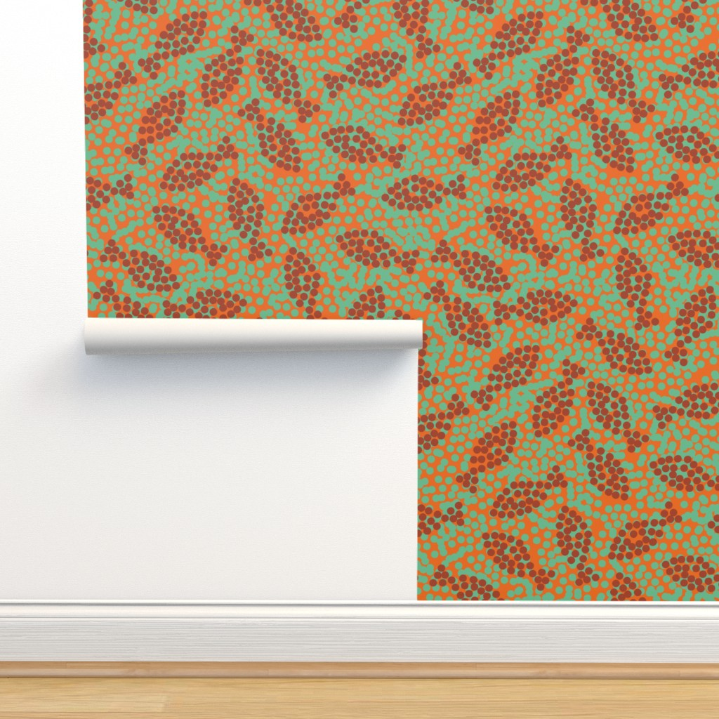 Isobar Durable Wallpaper featuring fish and dots by rysunki_malunki