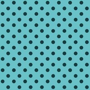 Green Polka Dot 1x1