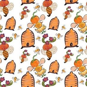Boo Bee Apiary Pumpkin and Bees