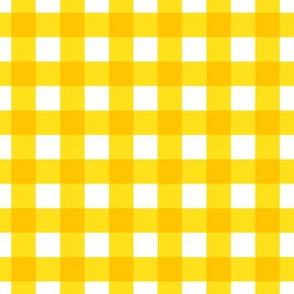 bright yellow gingham check