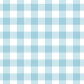 Blue gingham check plaid fabric wallpaper gift wrap