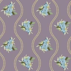 Vintage Floral Dusty Lilac