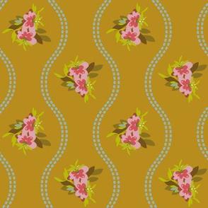 Vintage Floral Gold-01