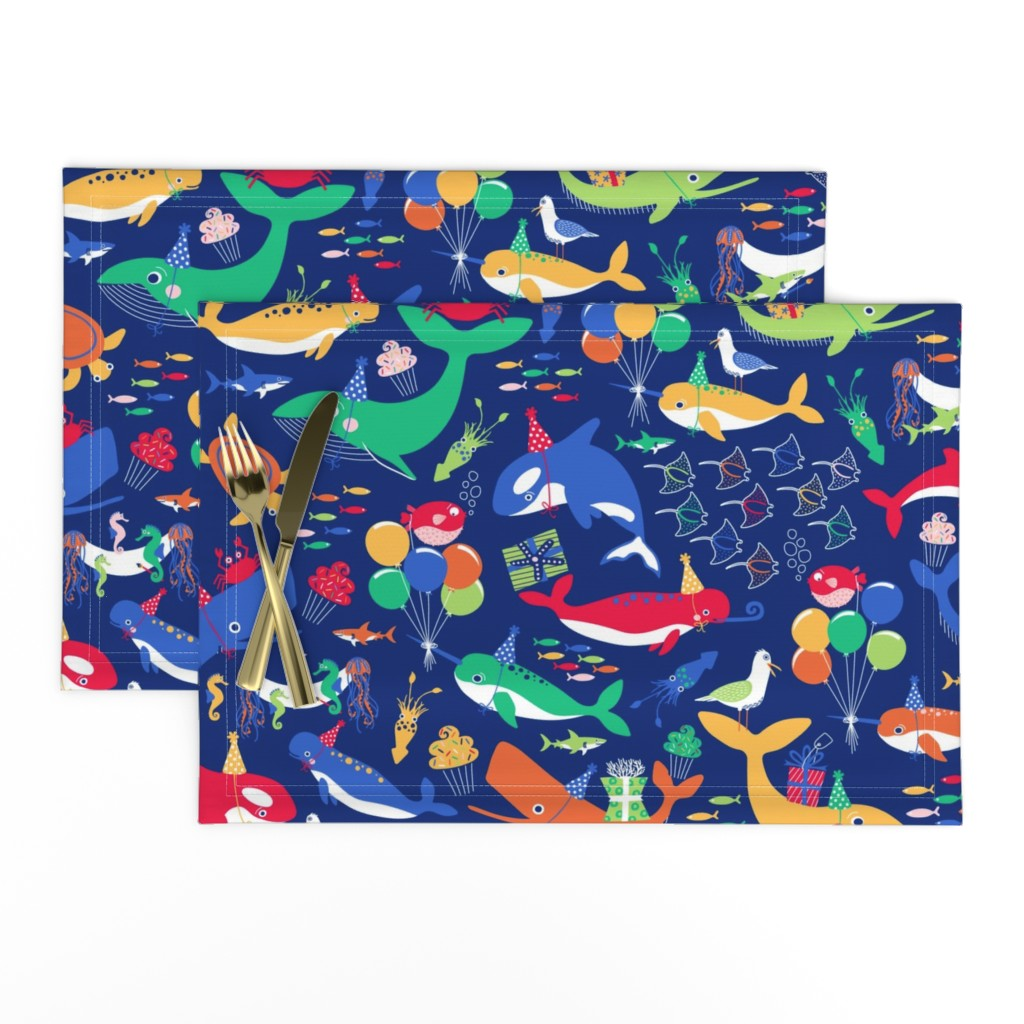 Lamona Cloth Placemats featuring A Fin-tastic Shell-ebration by nanshizzle
