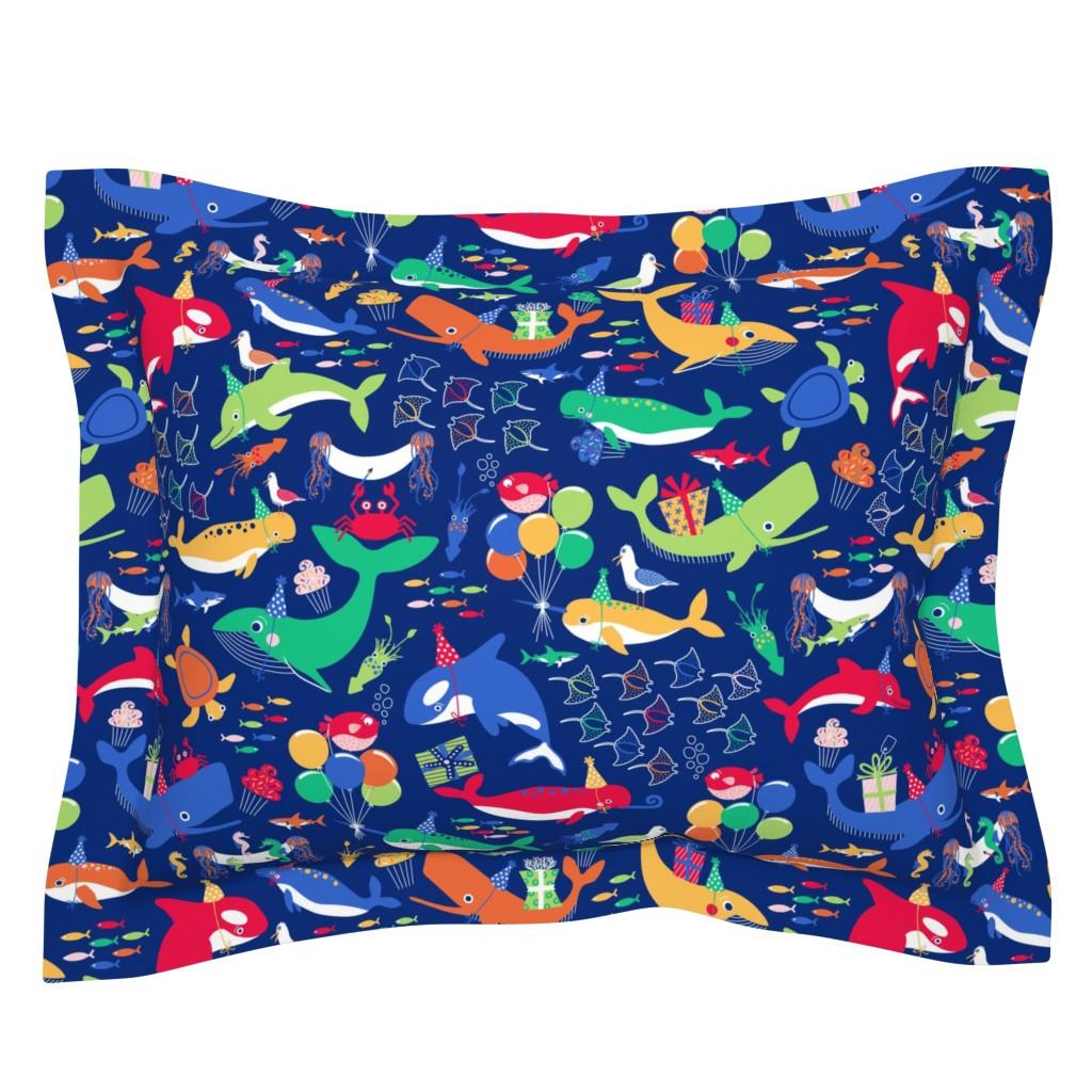 Sebright Pillow Sham featuring A Fin-tastic Shell-ebration by nanshizzle