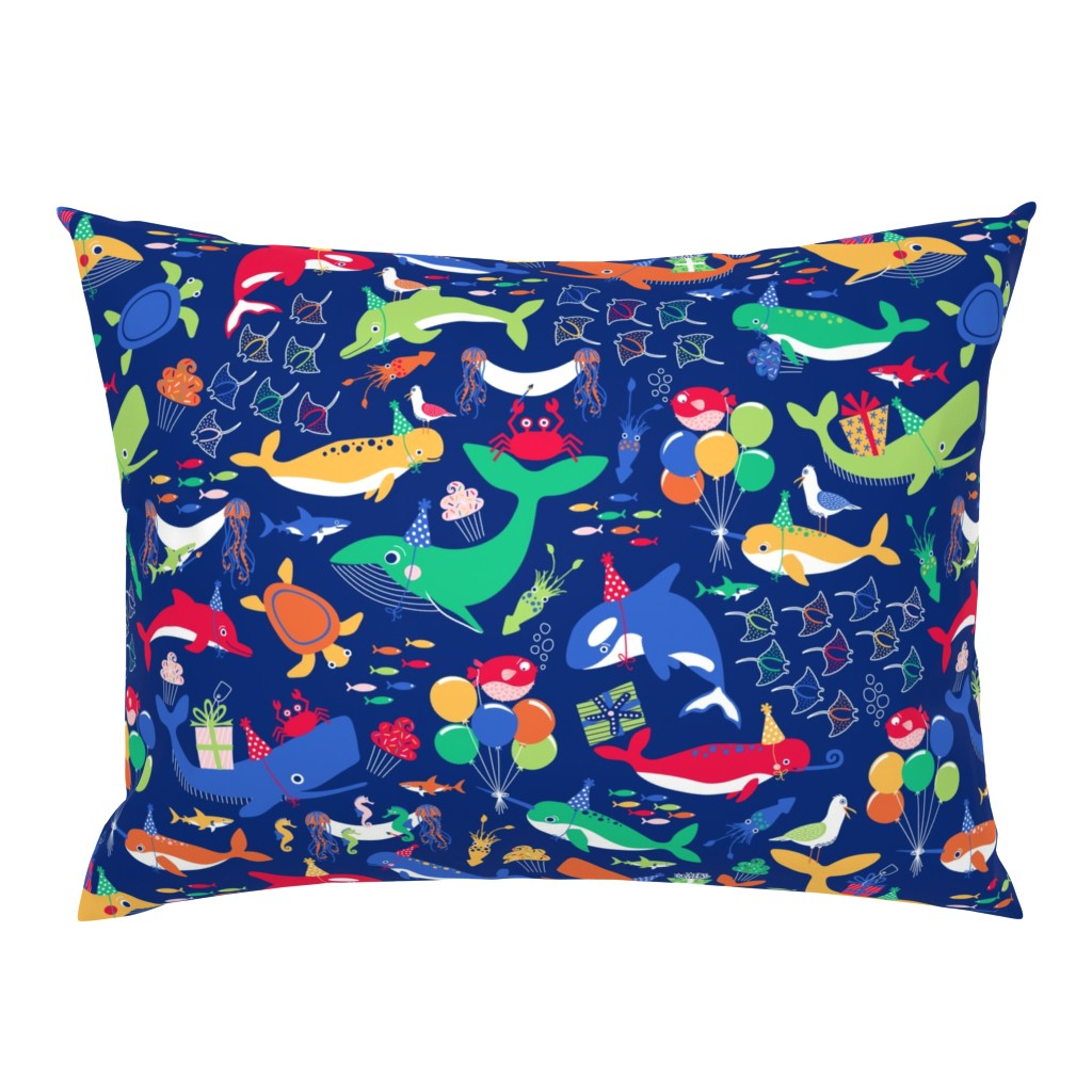 Campine Pillow Sham featuring A Fin-tastic Shell-ebration by nanshizzle