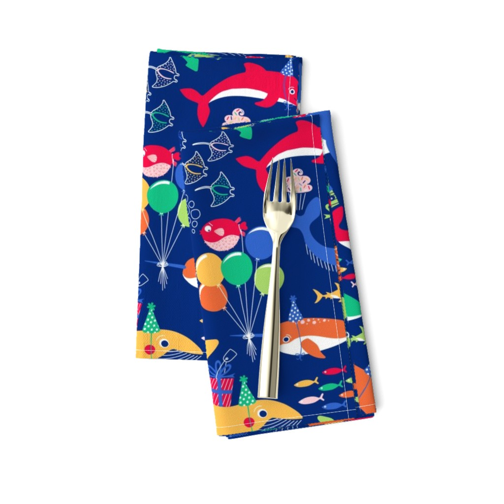 Amarela Dinner Napkins featuring A Fin-tastic Shell-ebration by nanshizzle