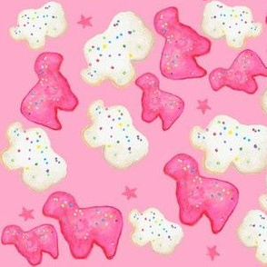 Frosted Cookie Animals on pink