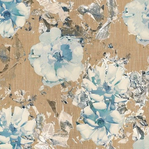Shabby Rose - Blue / Brown