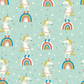 Unicorn in a hulahoop