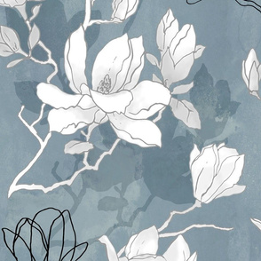 Neutral magnolia blossom (large scale)
