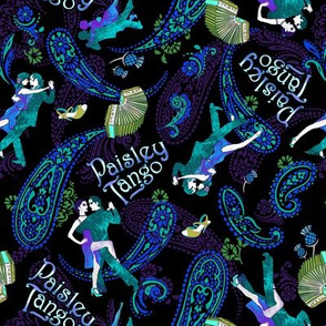 Paisley Tango Small peacock colours 20cm
