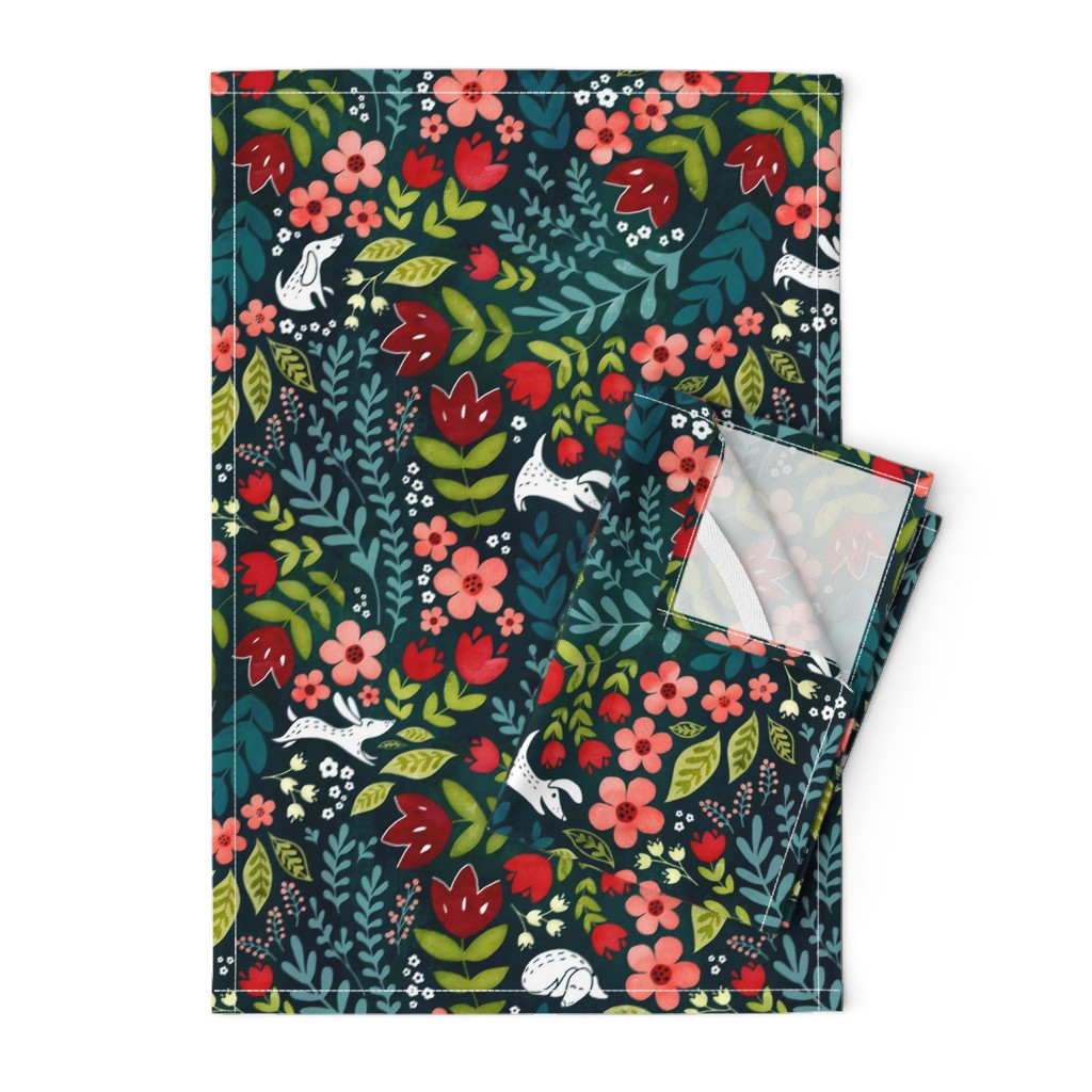 Orpington Tea Towels featuring Dog days by adenaj