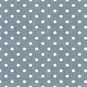 Faded French Spots - Blue