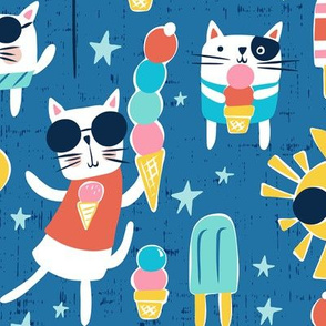 Cool Cats - Blue Large Scale