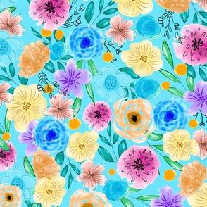 Pastel Watercolor Flowers 2
