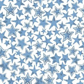 Allstars Stars Bright Blue on White