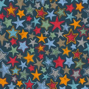 Allstars Stars Multi Color on Navy