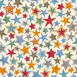 Allstars Stars Multi Colored on Cream