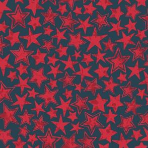 Allstars Stars Red on Navy