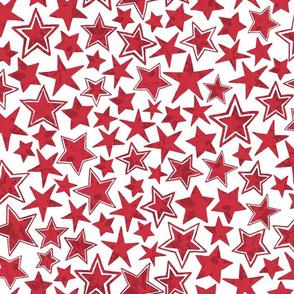 Allstars Stars Red on White