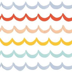 Sea Waves on White