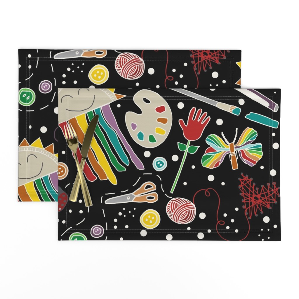 Lamona Cloth Placemats featuring Arts & Crafts Are for Everyone by kelly_korver