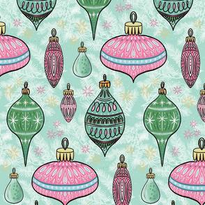 small mid century ornaments