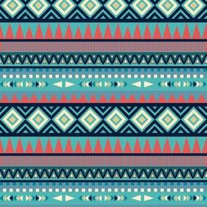 Moody Blues Tribal Geometric Pattern