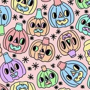 Pumpkins On Pink