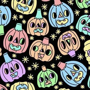 Pumpkins On Black