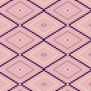 Southwestern Geometric - Blush / Beige / Purple - Small