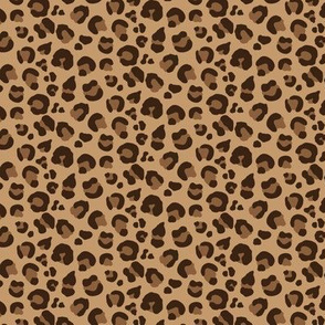 Leopard Spots - Classic Brown / Tan / Camel - Small