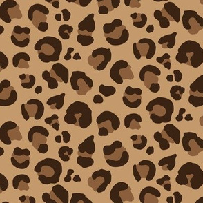 Leopard Spots - Classic Brown / Tan / Camel - Medium