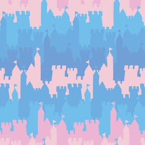 castle in pink and blue by rysunki_malunki
