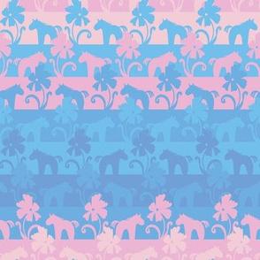 unicorn garden stripes by rysunki_malunki