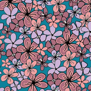 Pantone2020 Turquoise Floral