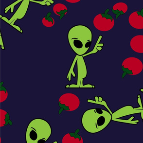 tomatoes and alien