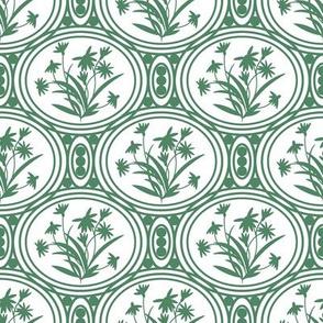 Rudbeckia White Green Geo-01