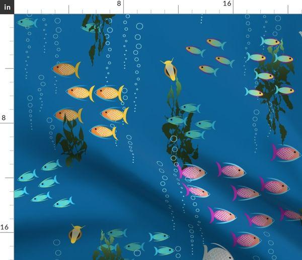 4 Servietten ~ Tropische Fische Wassertiere Meer Aquarium
