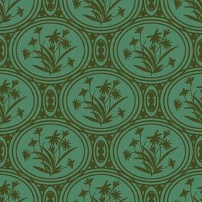 Rudbeckia Green Olive Geo-01