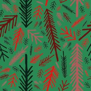 Winter Forest - Green