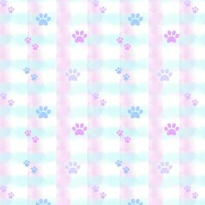 Gingham Puppy Paws