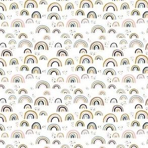 Rainbow love Scandinavian abstract rainbow clouds happy rain sky girls pink SMALL XS