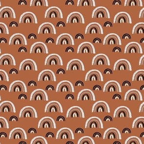I wanna be a rainbow high in the sky cool abstract trend print copper SMALL XS