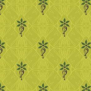 Accidental Art Nouveau - chartreuse